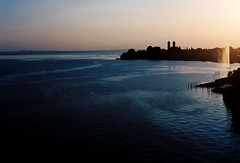 Sunset over Lake Constance (mkk707) Tags: film analog wwwmeinfilmlabde leicar7 leicasummiluxr50mm2ndmodel11776 vintagelens vintagefilmcamera bodensee lakeconstance friedrichshafen manualfocuslens sunset germancameras germany kodakportra400