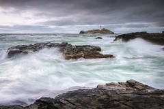 Godrevy (Rich Walker Photography) Tags: godrevy cornwall sea seascape seascapes landscape landscapes landscapephotography canon england efs1585mmisusm eos eos80d waves wave longexposure longexposures longexposurephotography ocean water spray cloud drama movement coast coastal coastline lighthouse