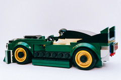 75884 Batmobile (alternate design) (RDRKRK) Tags: lego 75884 speed champions speedchampions green batmobile batman moc rebuild rebrickable remix legp