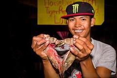 AD4A7742s (Phuketian.S) Tags: prawn shrimp animal seafood portrait people boy happy night market shop fish huge monster smile catch rawai phuket thailand phuketian