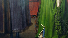 Jan Van Eyck, Carpet detail, The Arnolfini Portrait
