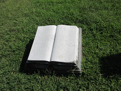 Marble Book Grave Marker Green-Wood Cemetery 9256 (Brechtbug) Tags: marble book grave marker greenwood cemetery statue gown graveyard tomb tombstone crypt mausoleums angels standing posed green wood brooklyn new york city 2018 nyc 09012018 books reading album folio tome brown stone