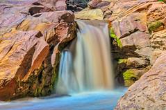 Colorful Falls (William Horton Photography) Tags: capitolreefnationalpark fremontfalls highway24 utah utahhighway24 utahstateroute24 fuzzywater horizontal nationalppark redrocks waterfall torrey unitedstates us
