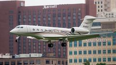 N446CC Gulfstream G650, CNM to MKC, Owner D&TC LLC, Carlsbad, NM (Lynn Tweedie) Tags: g650 wheelerdowntownairport 7dmarkii missouri airplane gulfstream jet wing buildings sigma150600mmf563dgoshsm canon plane eos downtownkansascity