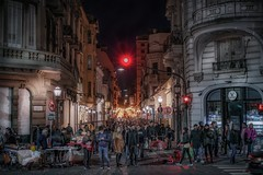 Sunday walk through Buenos Aires (karinavera) Tags: city night photography urban ilcea7m2 sunset street argentina people buenosaires santelmo