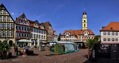 Breiter Marktplatz (Helmut Reichelt) Tags: marktplatz badmergentheim badenwürttemberg deutschland germany sommer august leica leicam typ240 captureone11 colorefexpro4 leicasummilux35mmf14asphii panorama