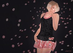 Flowers around me (Sannita_Cortes) Tags: cae glamaffair iconic ikon lelutka luxeparis maitreya persefona swank dressoutfits earring fashion necklace secondlife sl styles virtualworld virtualfashion female