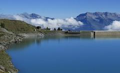 lac et barrage de Cleuson (bulbocode909) Tags: valais suisse cleuson nendaz lacdecleuson barragedecleuson lacs barrages montagnes nature nuages paysages vert bleu chapelles chapellestbarthélémy