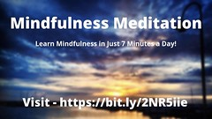Mindfulness Meditation - Learn In Just 7 Minutes A Day! (chantelleandtodd) Tags: mindfulness meditation learn in just 7 minutes a day