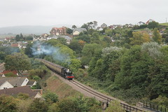 7820 works away from Watchet (g4vvz) Tags: 7820 dinmore manor steam engine west somerset railway uk autumn september climb hard work coaches br black mk1