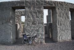 Stonehenge (marmotfotos) Tags: bike concrete monument maryhill washington biketouring