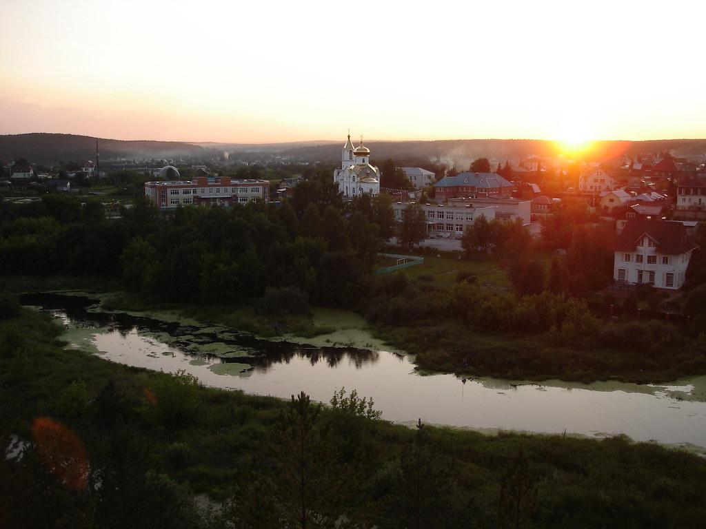 фото: Закат в Старопышминске
