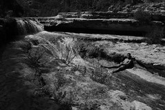Think (danieleplatania) Tags: photo canon uomo siracusa sicily cavagrande sicilia life nature think man blackandwhite river fiume