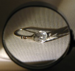 Magnifying glass (and glass earring) (simonpfotos) Tags: macromondays glass