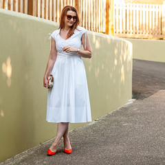Channelling Marilyn Monroe in a White 1950s Style Dress With Orange Heels   Not Dressed As Lamb, over 40 style, over 40 fashion (Not Dressed As Lamb) Tags: fashion style fashionista marilyn monroe white dress ootd outfit blogger summer ss18