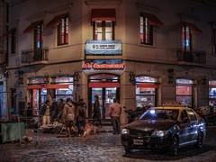 La Continental (karinavera) Tags: city night photography urban ilcea7m2 street continental buenosaires pizzeria corner santelmo