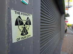 Foxicity (stevenbrandist) Tags: sticker loughborough fox thefoxes lcfc thefoxicityofourcity radiation symbol nuclear leicestershire
