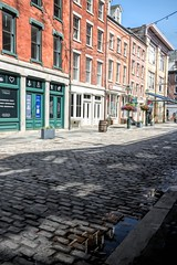 Front street lower manhattan (nickdifi) Tags: street nyc cobblestone buildings architecture