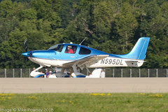 N595DL - 2018 build Cirrus SR22T GTS Platinum, arriving on Runway 36R at Oshkosh during Airventure 2018 (egcc) Tags: 1681 airventure airventure2018 cirrus cirrusdesign eaa gts kosh lederman lightroom n595dl osh oshkosh platinum sr22t