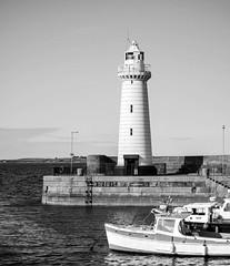 Dee Lighthouse in mono (JmiaJ) Tags: ardspeninsula coast coastal countydown donaghadee northernireland seaside