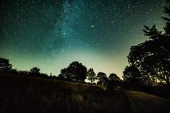 Milchstraße und Andromeda Galaxie (clemensgilles) Tags: night nachtfotografie astrofotographie availablelight milkyway milchstrase darkness vulkaneifel beautiful trees bäume deutschland eifel germany