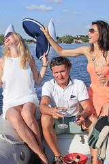 KRYC CUP 2014-4423 (amprophoto) Tags: sail sailing sailingyacht sailboat yachtrace regatta water wind white blue beneteau platu25 peoples sky sport spinnaker fun smile