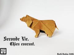 Seconde Vie Chien courant - Barth Dunkan. (Magic Fingaz) Tags: anjing barthdunkan chien chó dog hond hund köpek origami perro pies пас пес собака หมา 개 犬 狗 paperfolding