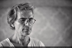 Energy follows the attention. Always. (wolfgang.lengfelder) Tags: meopta meostigmat attention bnw blackandwhite focus thinking portrait face skin beard glasses classiclens oldlens