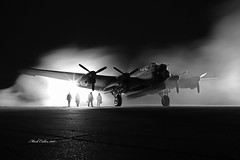 East Kirkby night shoot (markalfa83) Tags: eastkirkby night timelineevents avro lancaster nx611 lahc aircraft monochrome blackandwhite canoneos6dmarkii ef35mmf2