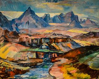 Asgrimur Jonsson - Mt Jarlhettur and Langjokull Glacier, 1928 at Reykjavík Art Museum Kjarvalsstaðir Reykjavik Iceland