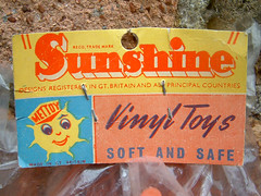 Sunshine ElephantCF0004 (The Moog Image Dump) Tags: vintage soft vinyl squeaker sunshine elephant toy figure fun orange mettoy