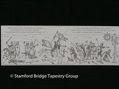 Panel 10 design (Stamford Bridge Tapestry Project) Tags: tapestry stamfordbridge battleofstamfordbridge 1066 design drawing