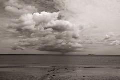 In Praise of Dreams (Tom Levold (www.levold.de/photosphere)) Tags: normandy nikon normandie d700 sw bw strand clouds wolken himmel sea meer sky beach normandie2012