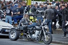 Meanwhile...Back At The Ace Cafe (standhisround) Tags: acecafe rockers people bikers male honda trike motorcycle ezrider leathers london northwestlondon england uk stonebridge reunion brightonburnup 25thanniversary 19382018 hybrid bike motorbike