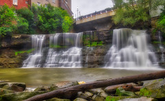 Chagrin Again (tquist24) Tags: chagrinfalls chagrinriver hdr nikon nikond5300 ohio outdoor bridge buildings clouds geotagged log longexposure river rock rocks sky tree trees water waterfall unitedstates