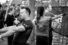 Stretched Out (Foto John) Tags: leicasl leicasl601 leica leicasltyp601 mirrorless summicronm50mmƒ2iv blackwhite blackandwhite blackandwhitethatsright monochrome streetphotography people man woman men women park finsburypark athletes runners london uk