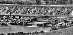 HIGHLIGHTS-0019 (RightCharlie100) Tags: lopwell dam plymouth blackandwhite blackwhite blankwhite river water waterfall