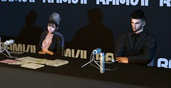 Let's get down to business. (btenny87) Tags: ramvii press conference presscon secondlife