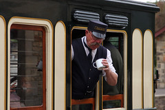 Wait, this isn't coffee! (twm1340) Tags: 2018 beamish museum county durham england uk train steam railroad railway hudswell clarke 060 bsc 1938