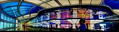 Kaleidoscope (elleaj13) Tags: flickrheroes interior abstract neon airport o'hare vivid bright windycity chicago