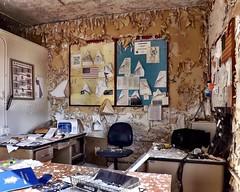 Against the wall [Fujifilm FinePix S4500] (neilsharris) Tags: blackflag abandonedchicago