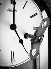 Start the clock (andreasklob) Tags: white black flickrfriday its5oclock key five clock