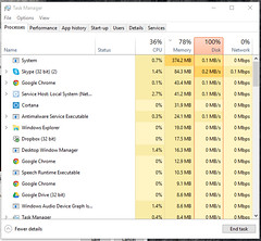 5 Tips to Fix 100% Disk Usage Problem in Windows 10, 8.1 and 7 (August 2018) (wintechlab - A simply Windows 10 Blog...) Tags: windows windows10 windows10version1803 high disk 100