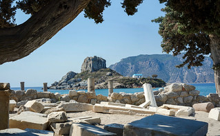 The ruins of the basilica of Agios Stefanos