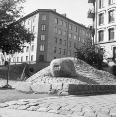 Sveaplan (rotabaga) Tags: sverige sweden svartvitt göteborg gothenburg blackandwhite bw bwfp lomo lomography lubitel166 twinlens fomapan r09 mediumformat mellanformat 6x6 120