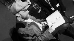 Edinburgh International Book Festival 2018 - Alexis Deacon & Joe Todd-Stanton 01 (byronv2) Tags: edinburgh edimbourg edinburghfestival eibf eibf2018 edinburghinternationalbookfestival edinburghinternationalbookfestival2018 literature literaryfestival books comics bandedessinee graphicnovels livres charlottesquare newtown festival author portrait peoplewatching candid alexisdeacon joetoddstanton childrensbooks fantasy yafiction yagraphicnovels artist blackandwhite blackwhite bw monochrome