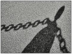 Shadow (unukorno) Tags: concarneau bretagne frankreich shadow abstract chain silhouette frame sw bw blackwhite monochrome