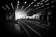 barbican (Daz Smith) Tags: dazsmith fujixt20 fuji xt20 andwhite bath city streetphotography people candid portrait citylife thecity urban streets uk monochrome blancoynegro blackandwhite mono tunnel london barbican road traffic lights