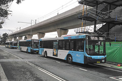 Hills Buses  for Sydney Bues line up at Rouse Hill with MO 6379 in the lead_ (john cowper) Tags: hillsbus sydneybuses rousehill tway statetransit transportfornsw suburbs sydney newsouthwales