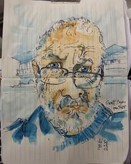 Geoff Bryan  #juliakaysportraitparty  #sketch #crobard #portrait (dege.guerin) Tags: portrait crobard juliakaysportraitparty sketch